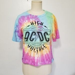 ACDC size Small Tie Dye T-Shirt